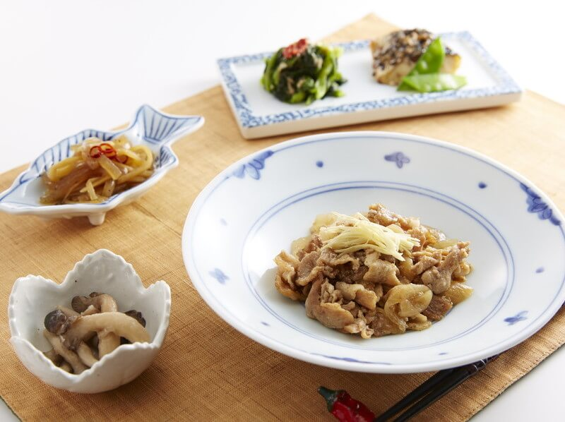食宅便の豚の生姜煮とサバの胡麻だれ