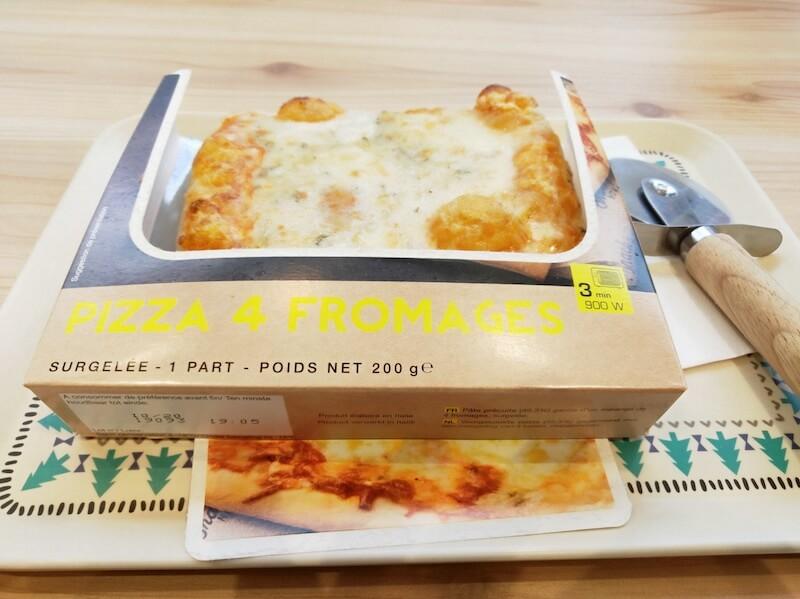 レンジで4種類のチーズピッツァ