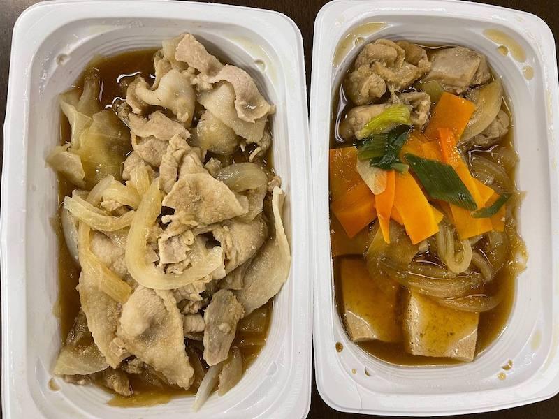 冷凍弁当の生姜焼き